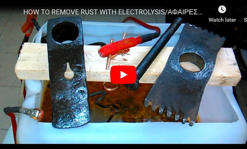 Electrolysis Rust Removal