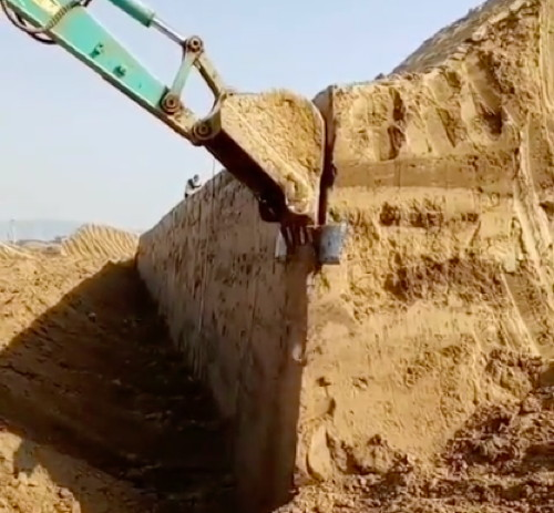 Excavator Dirt Shaver Attachment