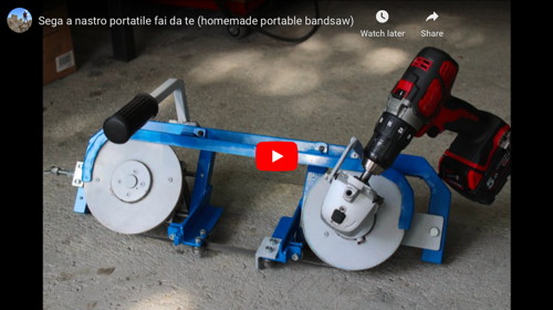Drill-Powered Portable Bandsaw