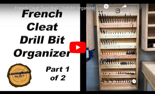 French Cleat Drill Bit Storage Rack