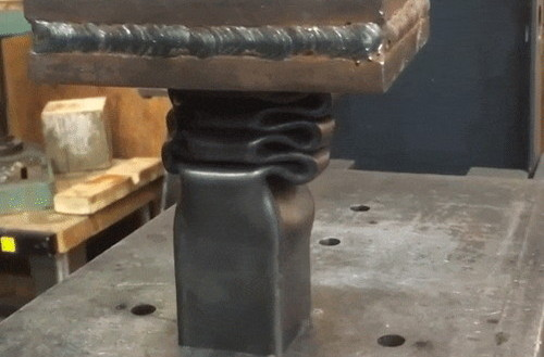 Perfectly Crushed Steel Post