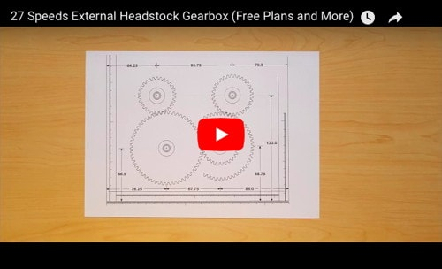 27-Speed External Headstock Gearbox - Free Plans