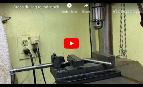 Cross-Drilling Round Stock