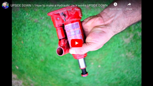 Upside Down Hydraulic Jack