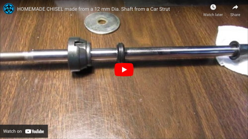 Chisel From Car Strut Shaft