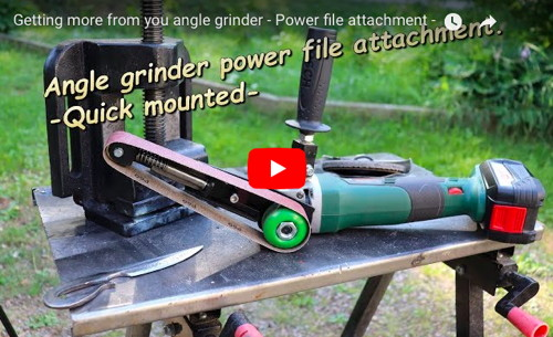 Angle Grinder Power File Attachment