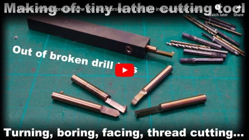 Lathe Cutting Tool From Drill Bits