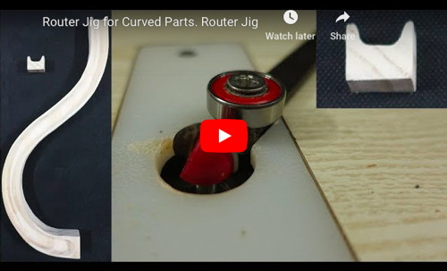 Router Jig for Curved Parts