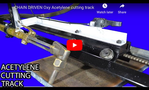 Chain-Driven Oxy-Acetylene Cutting Track