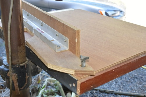 Drill Press Table Extension