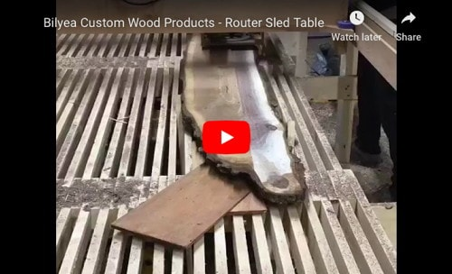Router Sled for Flattening Large Slabs