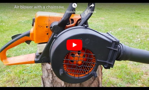 Air Blower From Chainsaw