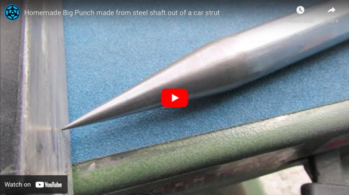 Big Punch From Car Strut Steel Shaft