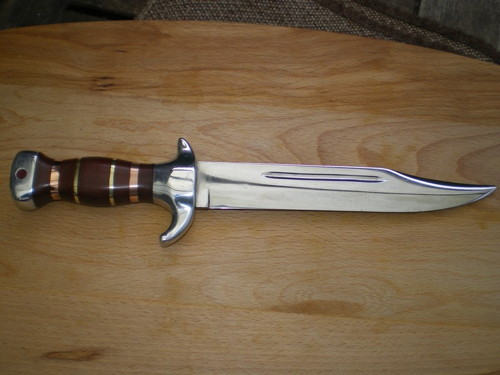 Leafspring Bowie Knife