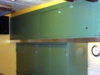 Sliding Door Garage Cabinets