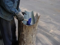 Wood Stumps for Shaping Sheet Metal