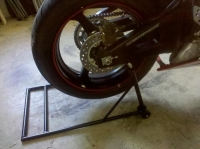 Motorcycle Rear Stand and Spools