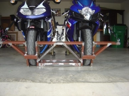 Homemade Motorcycle Wheel Chocks