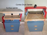 Combination Thickness and Surface Sander