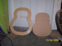 Guitar Body Cutting and Drilling Template