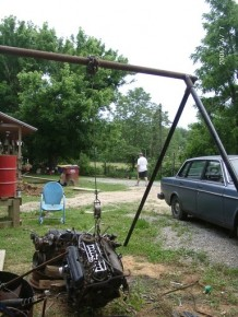 Homemade Freestanding Hoist Frame