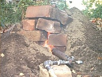 Dirt and Brick Furnace