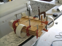 Wood Board Laminating Setup