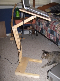 Homemade Adjustable Laptop Stand