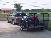 Dual Motorcycle Trailer