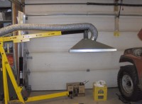 Engine Crane-Mounted Welding Hood
