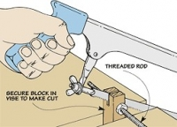 Threaded Rod Cutting Fixture