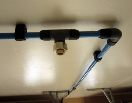 Homemade Ceiling Mounted Air Line