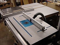 Router Mount in Table Saw Extension