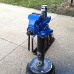 Telescoping Vise Stand