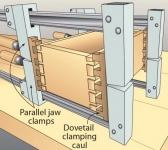 Dovetail Clamping Cauls