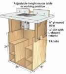 Telescoping Router Table