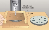 Sanding Disc Drilling Template