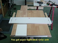 Router Table with Integrated Sled