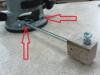 Router Trammel Attachment