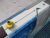 Router Bit Bearing Removal Jig
