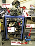 Metal Rack and Bandsaw Table
