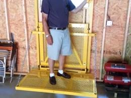 Homemade barn lift for Diy elevator plans