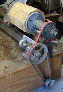 Homemade Wood Lathe Jack Shaft - HomemadeTools net