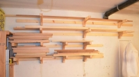French Cleat Lumber Storage Rack