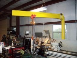 Homemade jib crane for Shop hoist plans