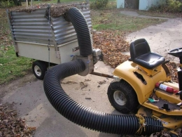 how to build a leaf vacuum machine