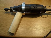 Wooden Dremel Handle