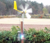 Wind Powered Garden Light
