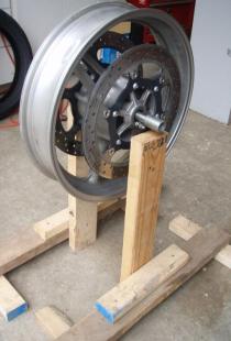 Homemade Motorcycle Wheel Balancer