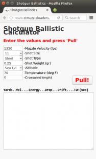 Homemade Shotgun Ballistics Calculator - HomemadeTools net